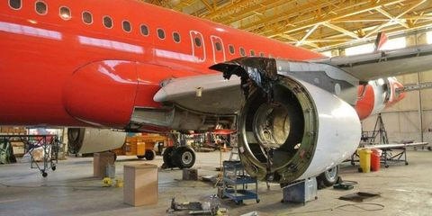 Airplane, Aircraft, Infrastructure, Aviation, Aerospace engineering, Airliner, Aircraft engine, Airline, Service, Air travel,