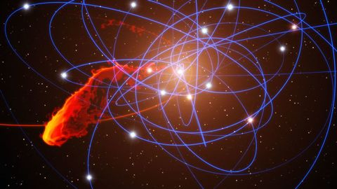 Space, Light, Electric blue, Circle, Star, Astronomical object, Science, Graphics,