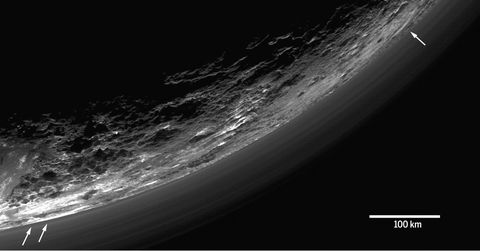 The atmosphere of Pluto as observed by New Horizons