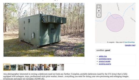 You Can Buy This Army Darkroom for $2,500