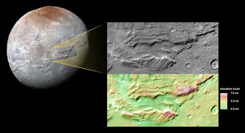 Pluto's Largest Moon Tried to Rip Itself Apart
