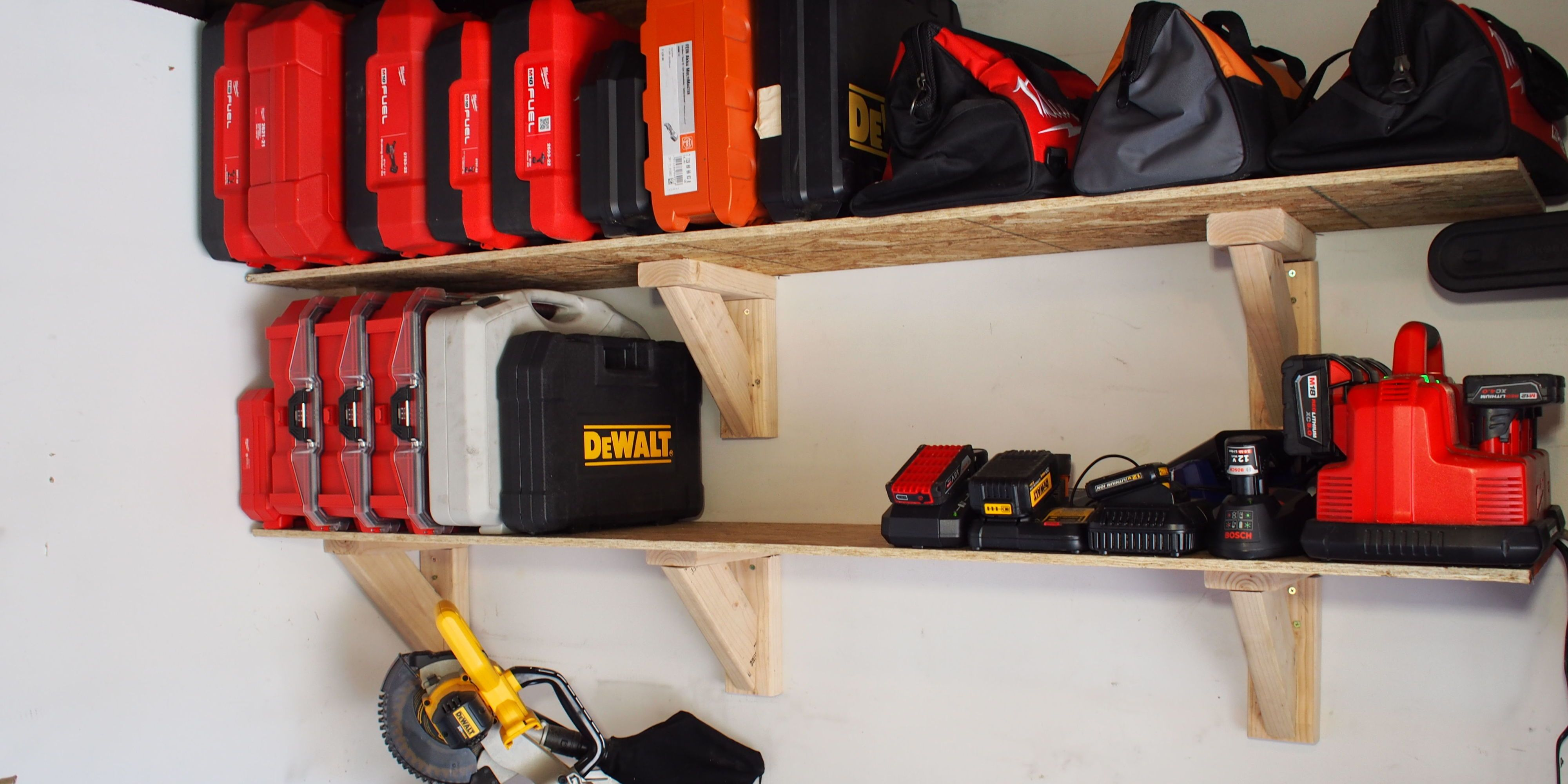 & How to Build Garage Storage Shelves on the Cheap