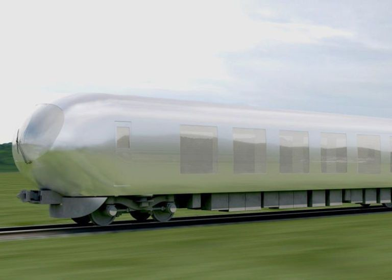 Japan's Cloaking-Shell Train Will Blend in with Its Surroundings