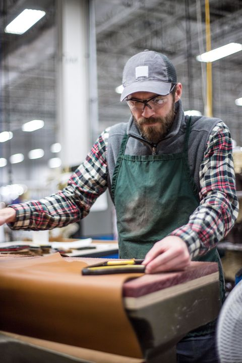 1a11b7158c964 The 300-worker operation behind every new pair of Bean boots involves  cutting