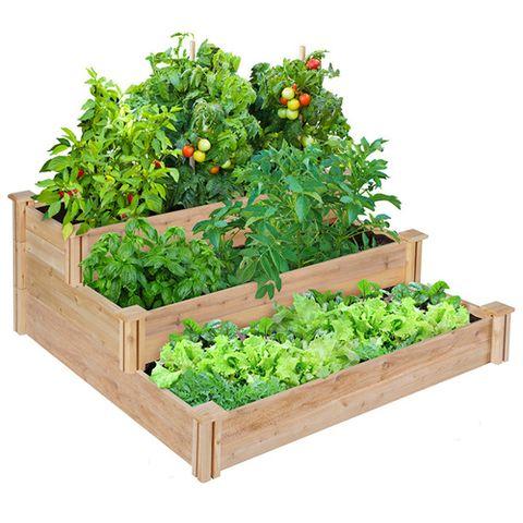 Greenes Fence Company 3-Tiered Cedar Raised Garden Bed