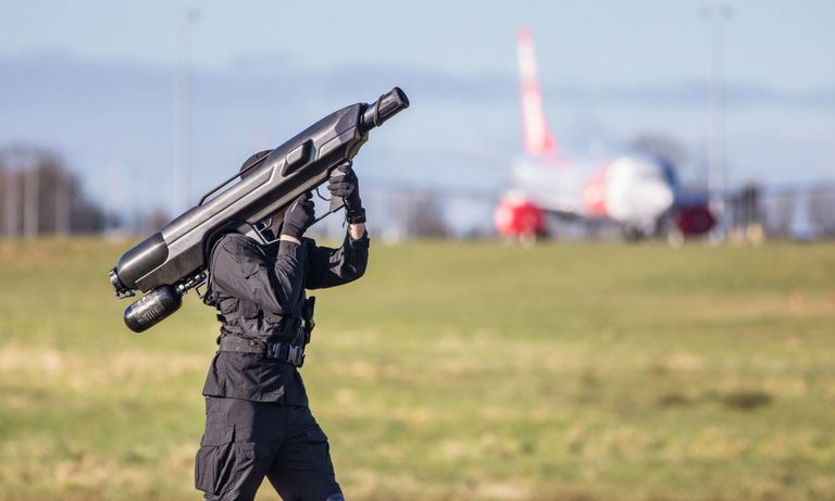 The Anti Drone Solution Du Jour Is A Net Shooting Bazooka British Company OpenWorks Engineering Recently Unveiled Its SkyWall 100 Which It Claims Can