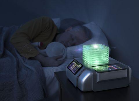 Comfort, Purple, Display device, Gadget, Plastic, Medical procedure, Nap, Medical, Sleep,