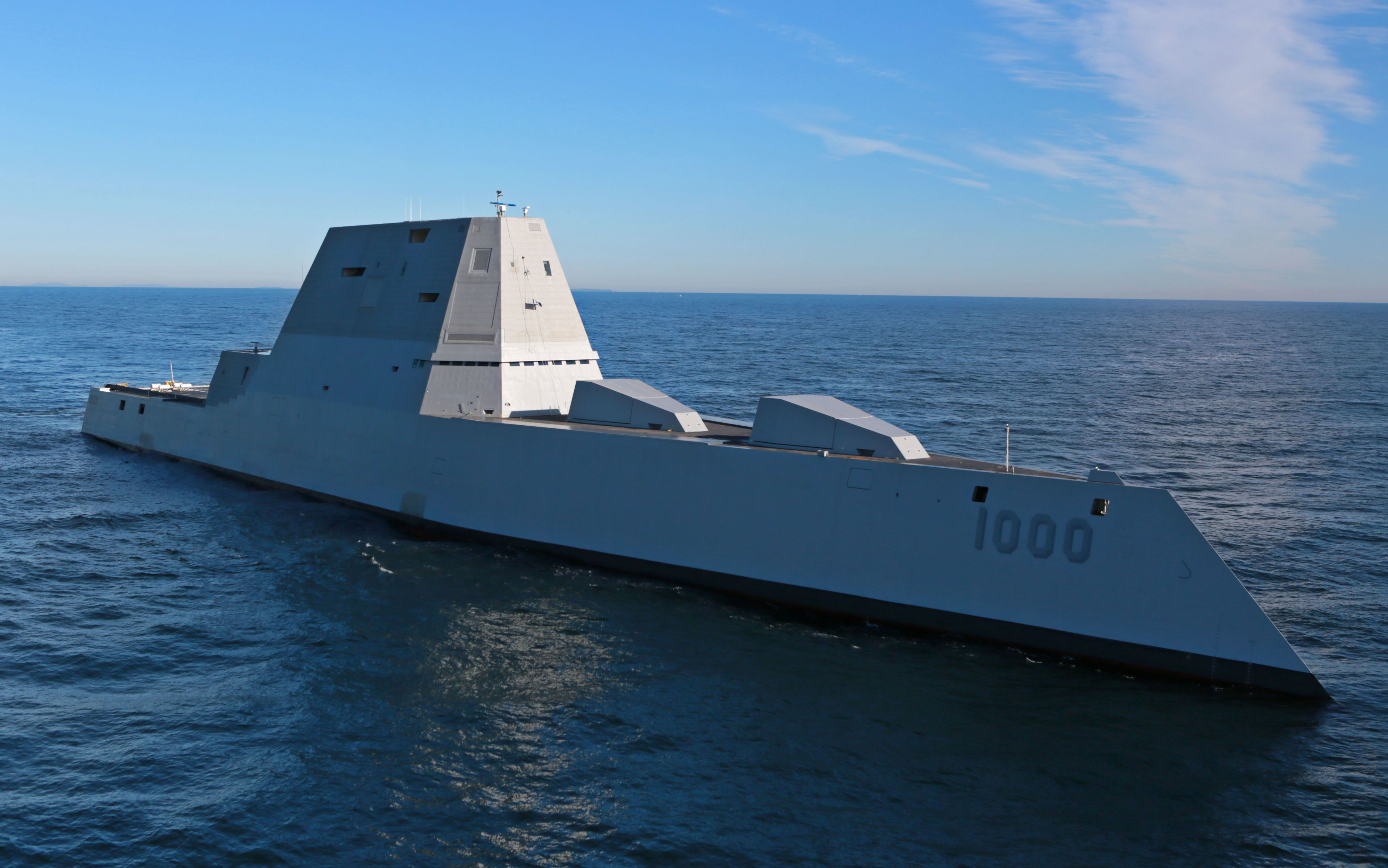 The First Tour of the USS Zumwalt Reveals a Stealth Ship That's Right on Track