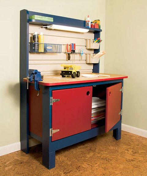 Swell Build This Kid Sized Workbench For Your Diy Child Pabps2019 Chair Design Images Pabps2019Com