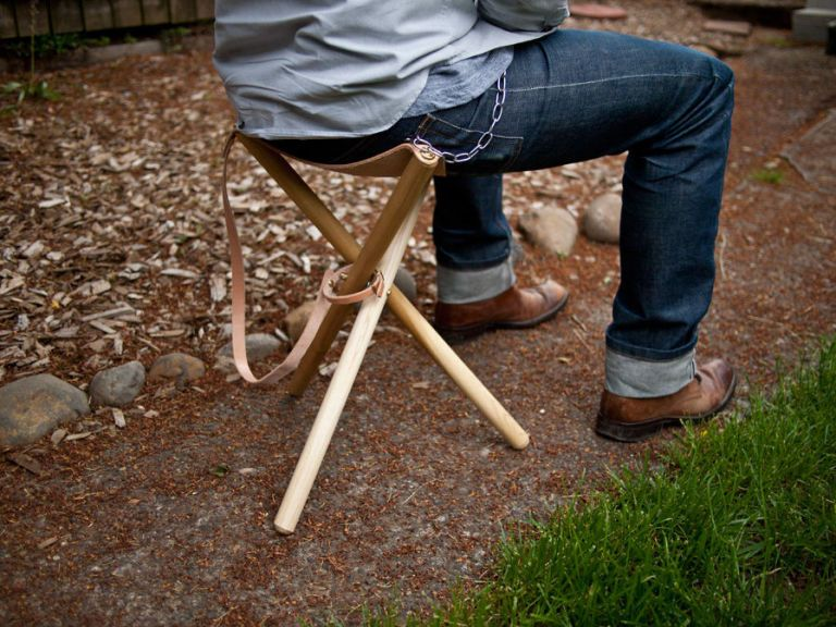 Build This Stylish Tripod Camping Stool That Looks Great