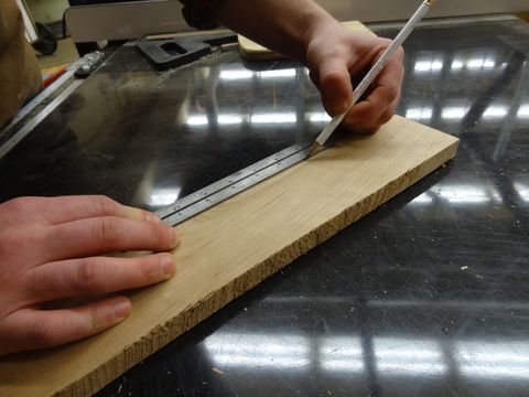 "<p>Lyons takes his measurements with a steel rule, typically the one in his combination square. ""With a steel rule, it's easy to hold the end flush against a piece of wood to get a precise measurement,"" he says. ""Plus, the rule lays completely flat so you can see the numbers easily."" Standard tape measures can wear out and get loose or bent, or get too much play in the end. Still, he keeps a tape handy. ""For longer measurements when you need a standard tape, measure from the 1-inch mark instead of the end. Then subtract 1 inch from the final measurement. This will give you an accurate measurement."" </p>"