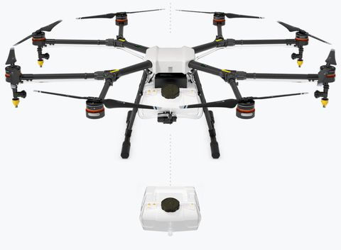 DJI sprayer drone