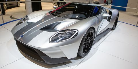 "<p>Ford blew everyone away when it showed off <a href=""http://www.roadandtrack.com/car-culture/car-design/g6296/gallery-ford-gt/"" target=""_blank"">the gorgeous new GT</a> at the 2015 Detroit Auto Show. It's incomprehensibly pretty in person and promises to continue the legacy of Ford's greatest motorsport achievement. Hopefully it lives up to the looks and the name.</p>"