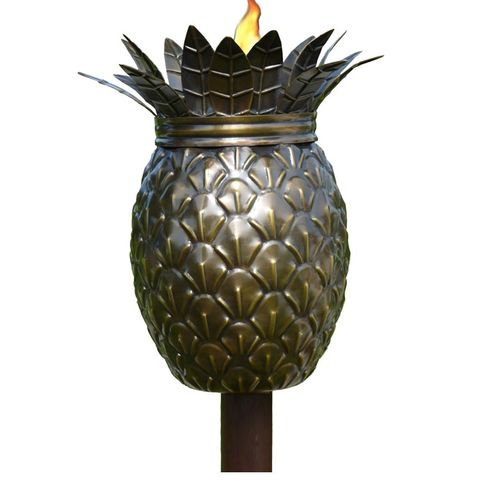 """<p><strong><em>$40, </em></strong><strong><em><a href=""""http://www.buytikitorches.com/pineapple-tiki-torch.html?gclid=CjwKEAjwuPi3BRClk8TyyMLloxgSJAAC0XsjlY0KXfBKP9RRmBuAKtiuqIcWfs_p81oGX2ZJxCYKThoCtjPw_wcB"""" target=""""_blank"""">buytikitorches.com</a></em><a href=""""http://www.buytikitorches.com/pineapple-tiki-torch.html?gclid=CjwKEAjwuPi3BRClk8TyyMLloxgSJAAC0XsjlY0KXfBKP9RRmBuAKtiuqIcWfs_p81oGX2ZJxCYKThoCtjPw_wcB"""" target=""""_blank""""></a></strong><a href=""""http://www.buytikitorches.com/pineapple-tiki-torch.html?gclid=CjwKEAjwuPi3BRClk8TyyMLloxgSJAAC0XsjlY0KXfBKP9RRmBuAKtiuqIcWfs_p81oGX2ZJxCYKThoCtjPw_wcB"""" target=""""_blank""""></a></p><p>Further the tropical feel by staking this pineapple-shaped tiki torch <a href=""""http://www.bestproducts.com/home/outdoor/g1176/outdoor-bistro-sets/"""" target=""""_blank"""">beside the bistro table</a>. The vessel holds 32 ounces of fuel, plenty for lighting up a late-night luau.</p>"""