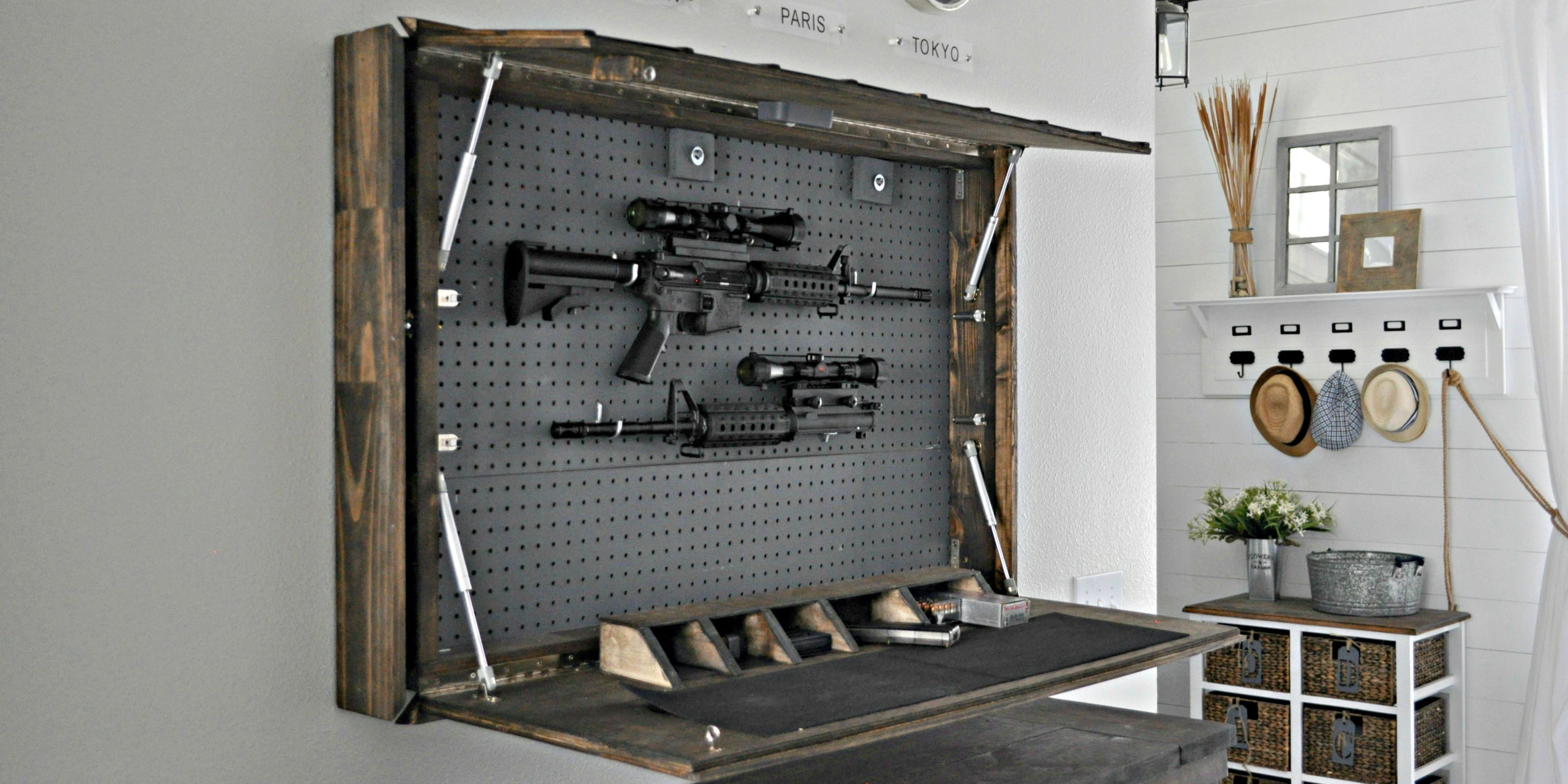 Gun Safes Are Great For Securing Firearms, But Not So Great When You Need  Quick Access. This Gun Compartment Doubles As A Living Room Mirror, ... Part 47