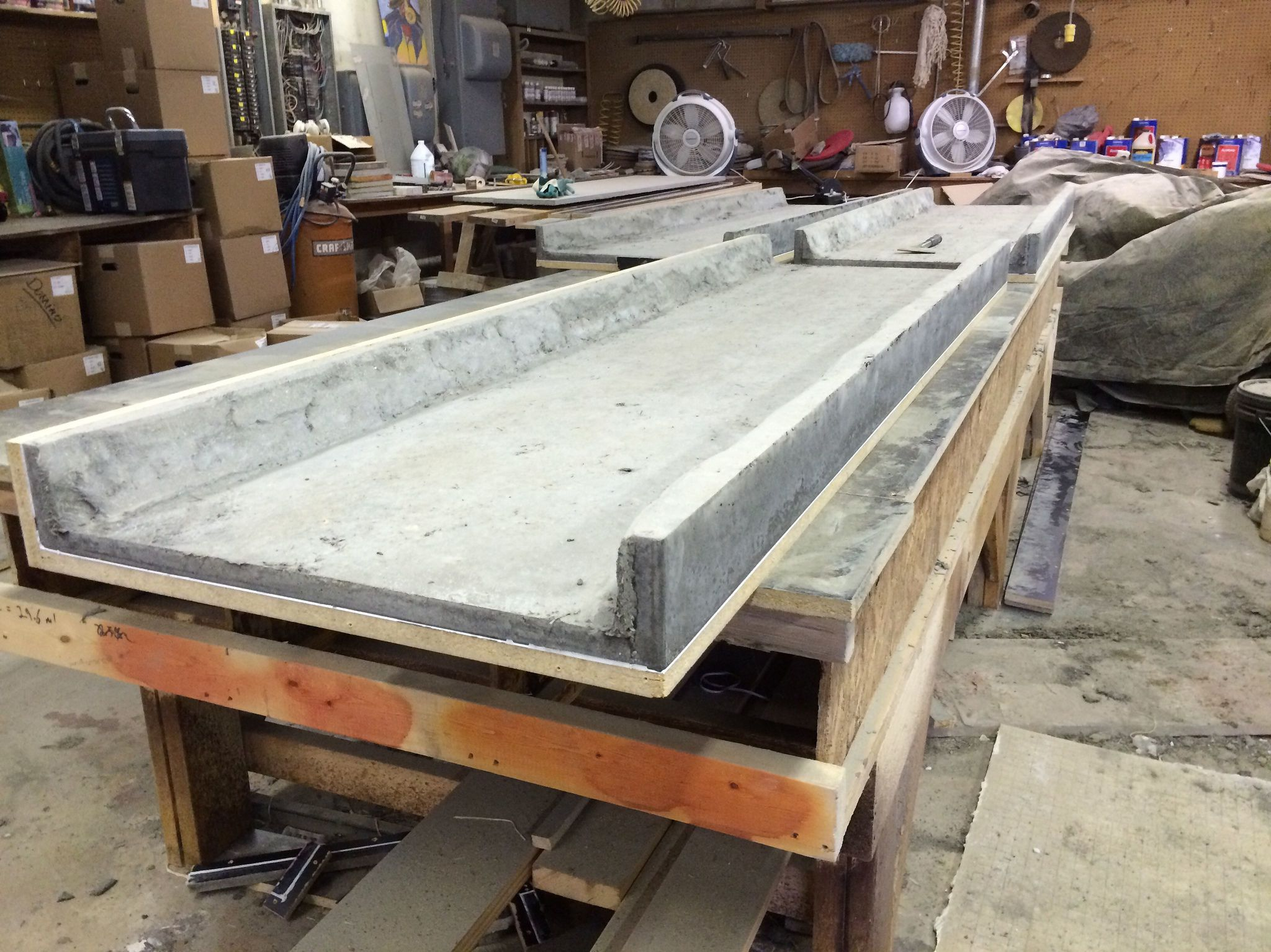 Poured Concrete Countertops