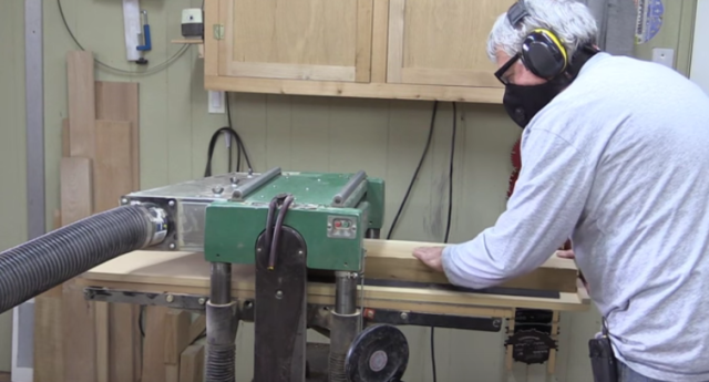 How to Use Your Planer as Jointer for Milling Large Pieces of Wood