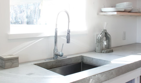 How to Build a Classy Concrete Countertop