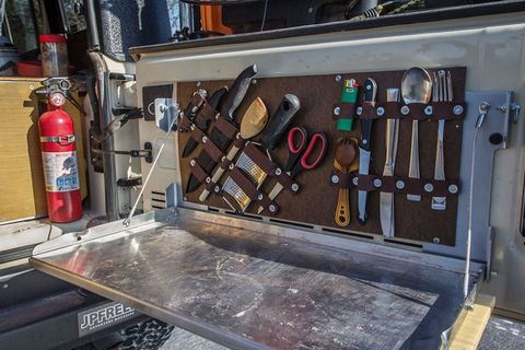 Build This DIY Tailgate Table and Utensil Holder for Your Next Camping Trip