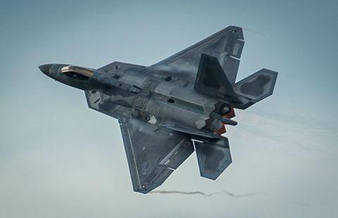 Airplane, Aircraft, Fighter aircraft, Military aircraft, Jet aircraft, Aerospace engineering, Wing, Aviation, Aerospace manufacturer, Lockheed martin f-22 raptor,