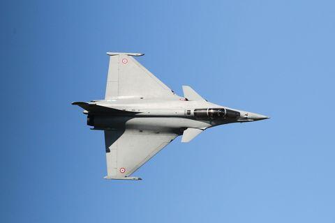 Airplane, Aircraft, Blue, Mode of transport, Daytime, Sky, Fighter aircraft, Jet aircraft, Flight, Aviation,