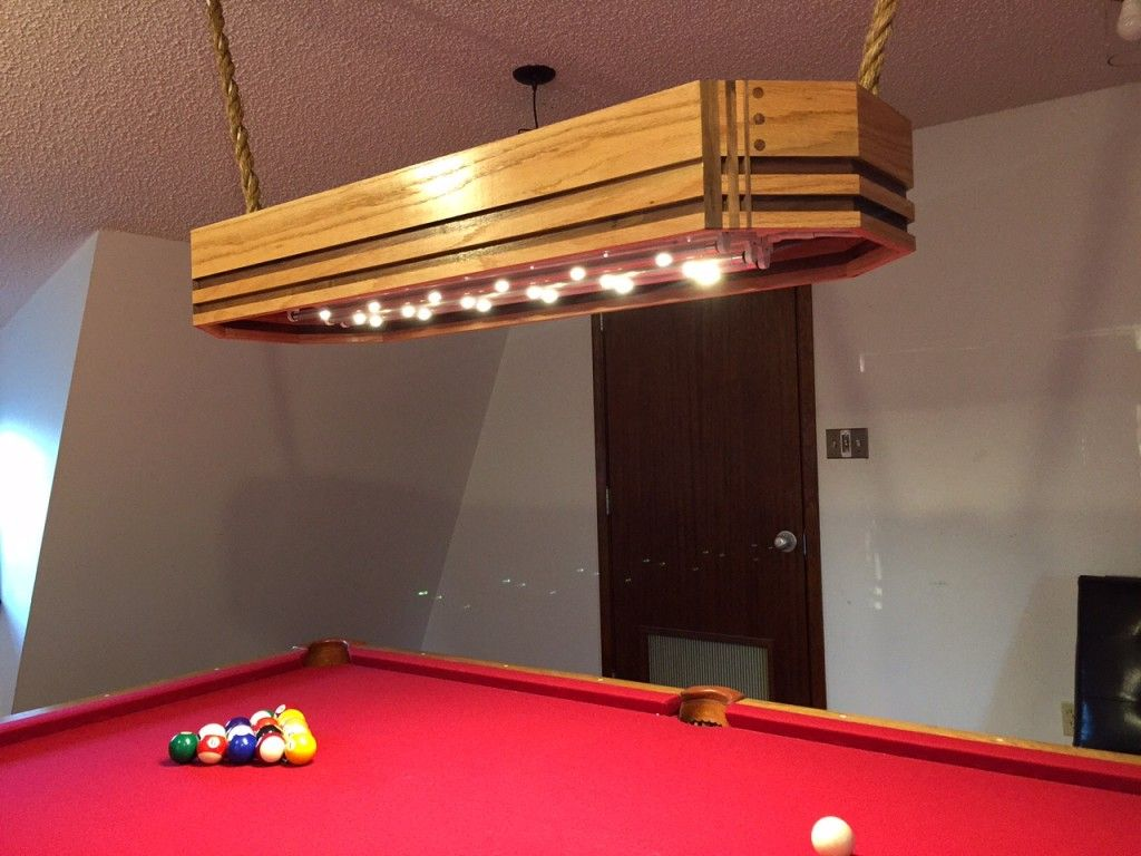 Wood Pool Table Light