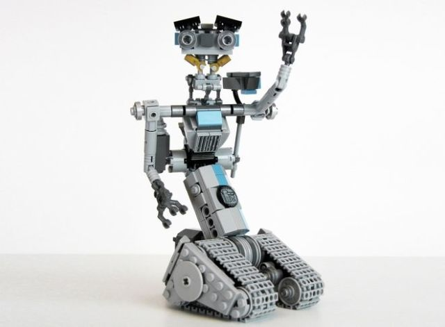 No Disassemble This Incredible Johnny Five Lego Set