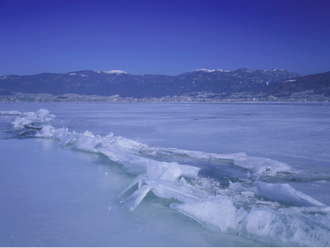 Lake Suwa, where ice levels have been measured for centuries