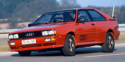 "<p>When the Audi Quattro went on sale, all-wheel-drive performance cars weren't nearly as common as they are now. But it had <a href=""http://www.roadandtrack.com/car-culture/classic-cars/videos/a6621/audi-quattro-tarmac-rally-killer-sounds-video/"" target=""_blank"">the DNA of a WRC-dominating rally car</a>, and it's now cemented itself as one of the most important cars Audi's ever sold.</p>"