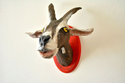 Fake goat head