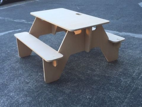Make a Flat-Pack Picnic Table That You Can Always Bring With You