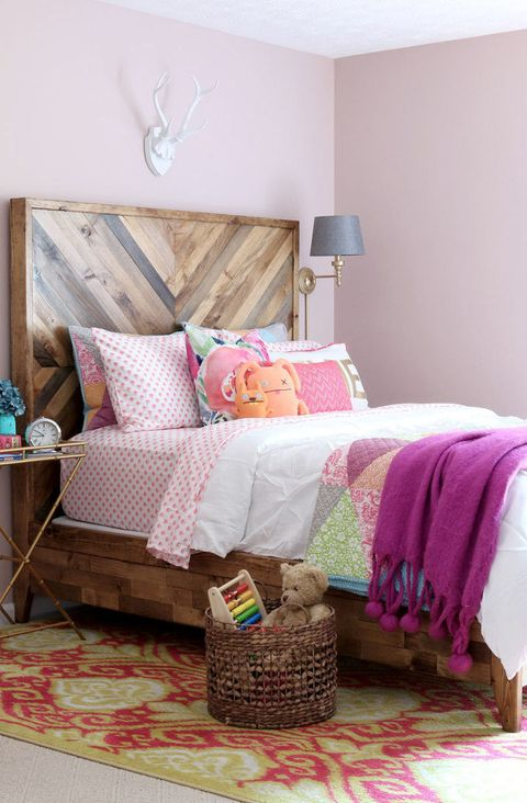 chevron wood headboard