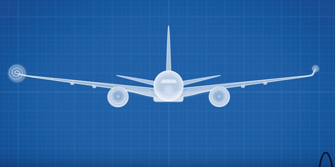 Airplane, Aircraft, Airliner, Airline, Air travel, Line, Aerospace engineering, Wing, Aviation, Jet aircraft,