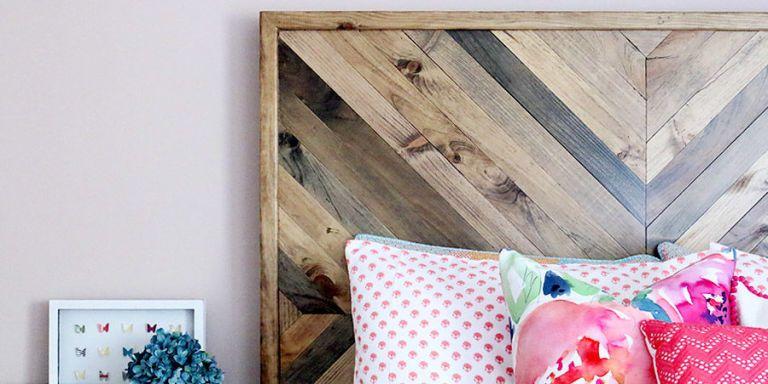 DIY wood headboard & 6 DIY Headboards You Can Make Yourself | Headboard Design ...