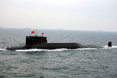 Submarine, Ballistic missile submarine, Vehicle, Boat, Cruise missile submarine, Watercraft, Sea, Navy, Ship,