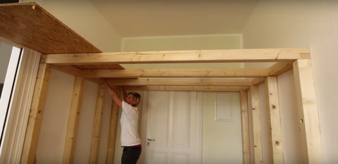 Build An Overhead Loft For A Small Room How To Build A Lofted Space
