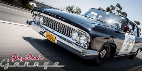Watch Jay Leno Drive a 1961 California Cop Car Like He Stole It
