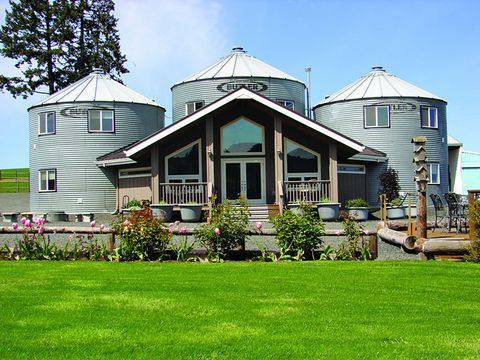 """<p>Thirteen years ago, hospitality industry vets John and Judi Stewart left Las Vegas to live on an 82-acre farm in Oregon wine country. They built a house the first year, then set their sites on converting the property's old grain silos into """"Silo Suites."""" The result is <a href=""""http://www.abbeyroadfarm.com"""" target=""""_blank"""">Abbey Road Farm</a>, a quaint bed-and-breakfast that also plays host to concerts and weddings. </p>"""