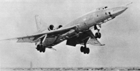 "The Tu-22 bomber, AKA ""Blind John""."