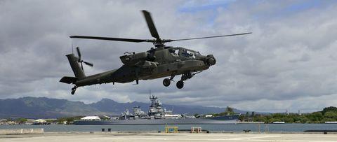 Helicopter, Mode of transport, Rotorcraft, Aircraft, Transport, Military helicopter, Military aircraft, Helicopter rotor, Horizon, Aviation,