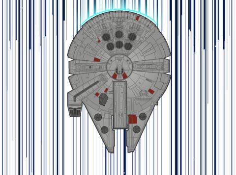 The Millennium Falcon, as done by Martin Pauchard