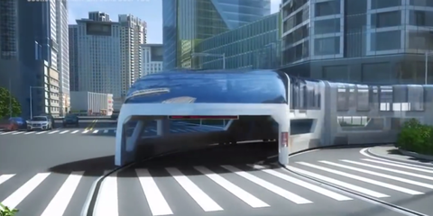 Is This Gliding Electric Bus the Future of Public Transportation?