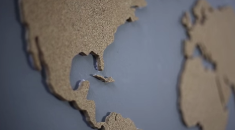 Build this cork world map and mark your adventures maps are fun to look at but the cheap paper variety dont always make the best decor try making a cork world map that will look great on your wall and gumiabroncs Gallery
