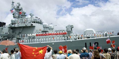 Naval architecture, Naval ship, Ship, Navy, Water transportation, Boat, Warship, Crew, Flag,