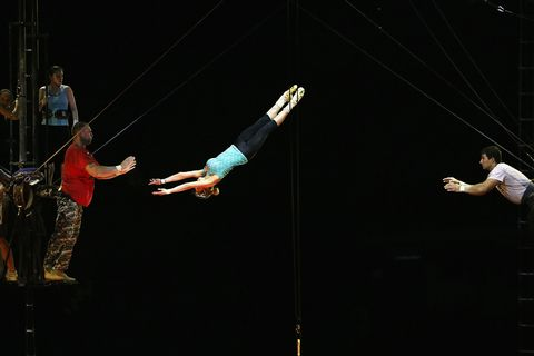 Leg, Entertainment, Performing arts, Human leg, Elbow, Acrobatics, Artist, Circus, Performance, Wrist,
