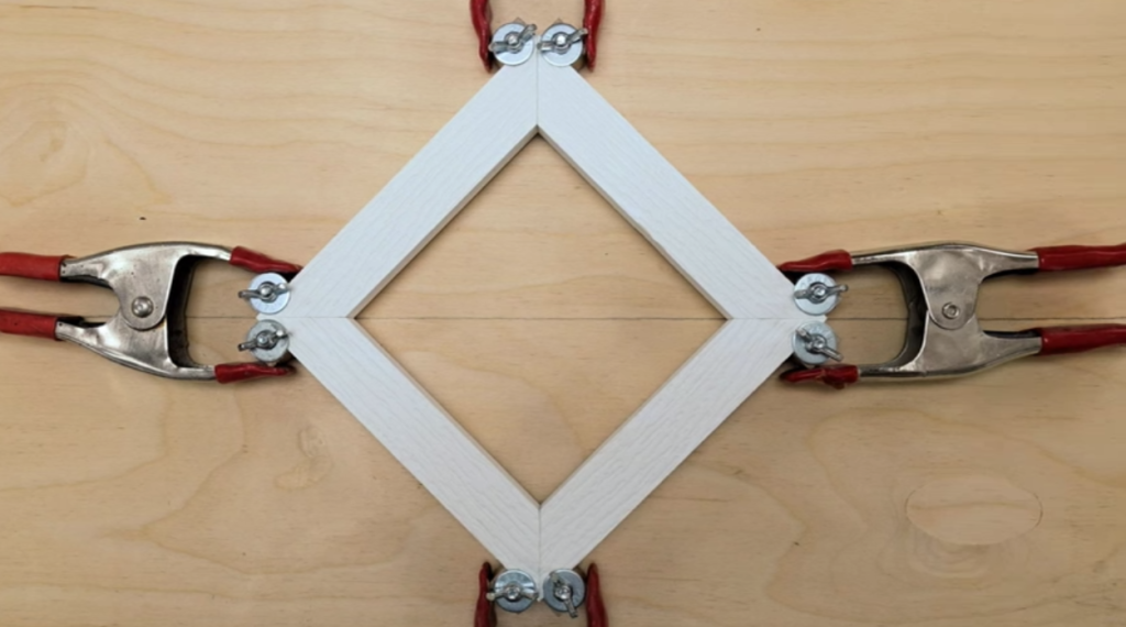 An Easy Way To Clamp Corners When You're Building a Picture Frame