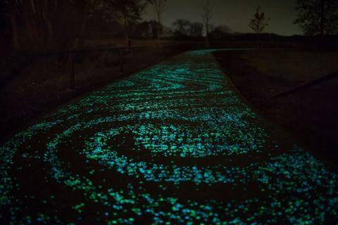 Glowing sidewalk