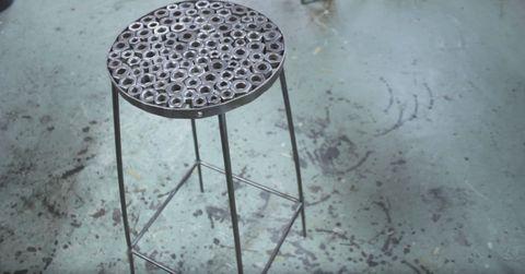 Floor, Reflection, Circle, Stool,