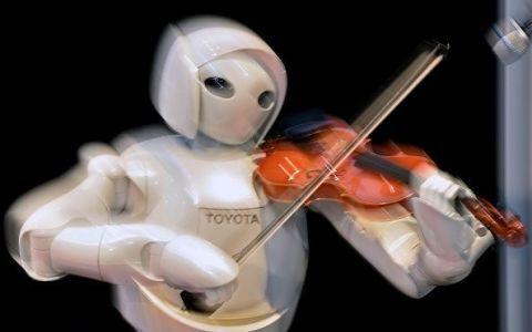 Robot playing music