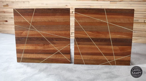 These Handmade Beauties However Will Stand Out Thanks To Their Butcher Block Teak Surface And Br Inlays